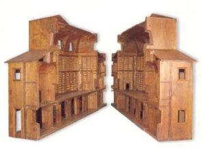 Modello ligneo della Biblioteca, sec. XVIII